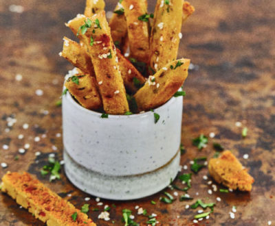 Recipes: Farmacy Baked Chickpea sticks and tahini dip