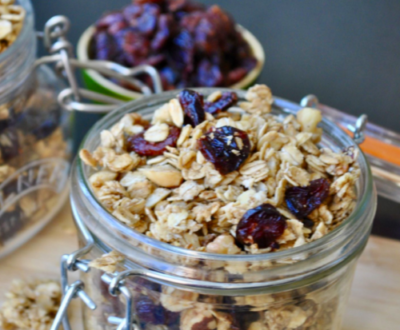 Recipes: Eli Brecher Cranberry Christmas Spiced Granola