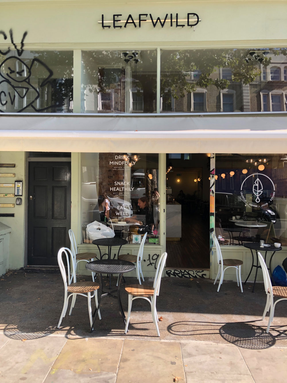Glowcation Leafwild Cafe Ladbroke Grove